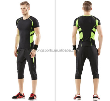 Menu0027s Customize Running Compression Wear jogging gym suitshirtu0026shorts rush guard training clothes  sc 1 st  Alibaba & Menu0027s Customize Running Compression WearJogging Gym Suit ...