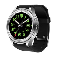 New design waterproof Android 3G WIFI smart watch phone with MTK6580 4 Core 1.3GHz ROM16GB RAM1GB for man