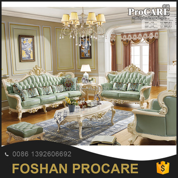 Amazing 2017 Classic European Style Imported Genuine Leather Procare Sofa Set