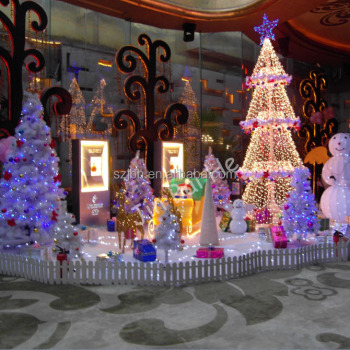 indoor yiwu party led christmas decoration 2017 light supplies for shopping mall