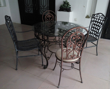 Vintage Wrought Iron Chair And Table Set From China Supplier