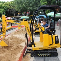 China supplier VEKAIN kids mini electric kids excavator rides! Amusement park rides kids toy games electric mini excavator