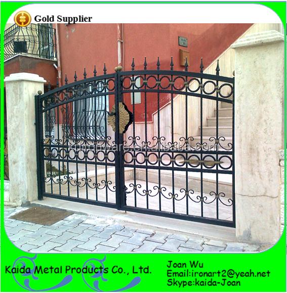Simple Morden Diseño Principal Puerta De Hierro Forjado