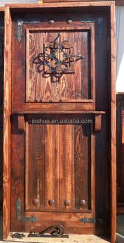 Rustic Mexican Solid Wood Dutch Door Reclaimed Wrought