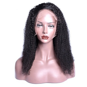 Wholesale 130% Density Human Hair Kinky Curly Lace Wig Virgin Brazilian Human Hair Kinky Curly Lace Front Wig