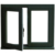 factory price double glazing tempered glass casement window