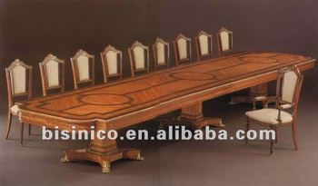 French Style Wooden Marquetry Conference Furniture/royal Conference Table  And Chairs