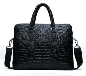 custom tote business men genuine crocodile leather briefcase