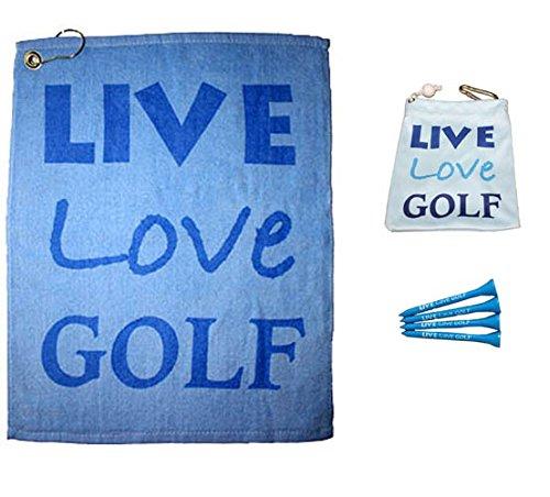 Giggle Golf Live Love Golf Towel & Tee Bag Combo