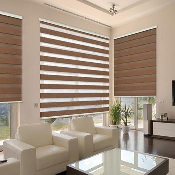 2018 Latest Design Double Roller Blinds Rainbow Curtains