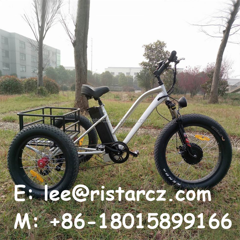 Fat tire 48V adult 3 wheel electric bicycle from China