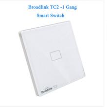 EU Standard Broadlink New TC2/TC1 Wireless 1-Gang Smart Home Remote Control Wifi Wall Light Touch Screen Switch 110V-240V IR+RF