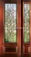 Interior And Exterior Half Light Doors Design DJ-S9104MSO-1