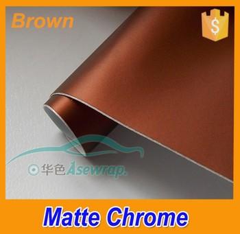 New Style Color Chrome Car Wrap Film Brown Matte Metallic