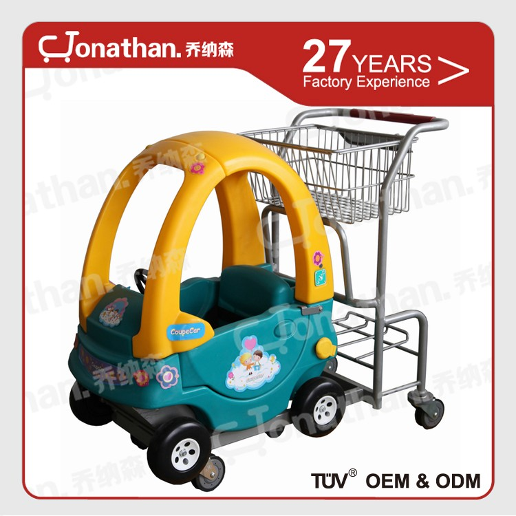 plastic shopping cart high quality supermarket carts trolleys