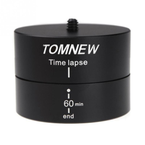 TOMNEW Generic 360 Degree Auto Rotation Camera Mount for 360TL Time Lapse Pan and Tilt Head for Go Pro Tripod Heads Monopod