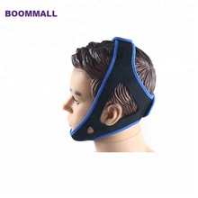 Upgraded breathable neoprene new anti snore solution to stop snoring chin strap belt for men and women