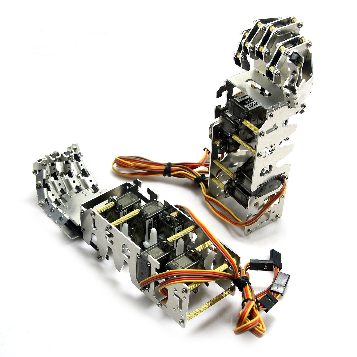 5DOF Humanoid Five Fingers Manipulator Arm Left+Right Hand with Servos for Robot