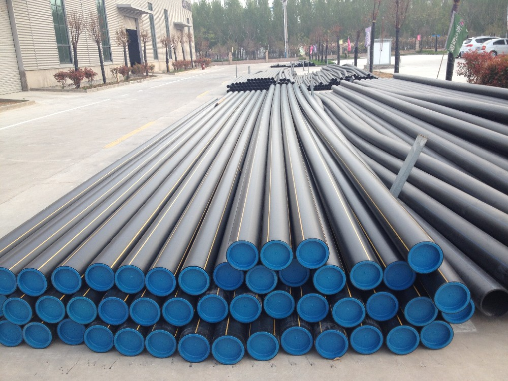 Chemical industrial pe plastic pipe hdpe water pipe for Water line pipe material