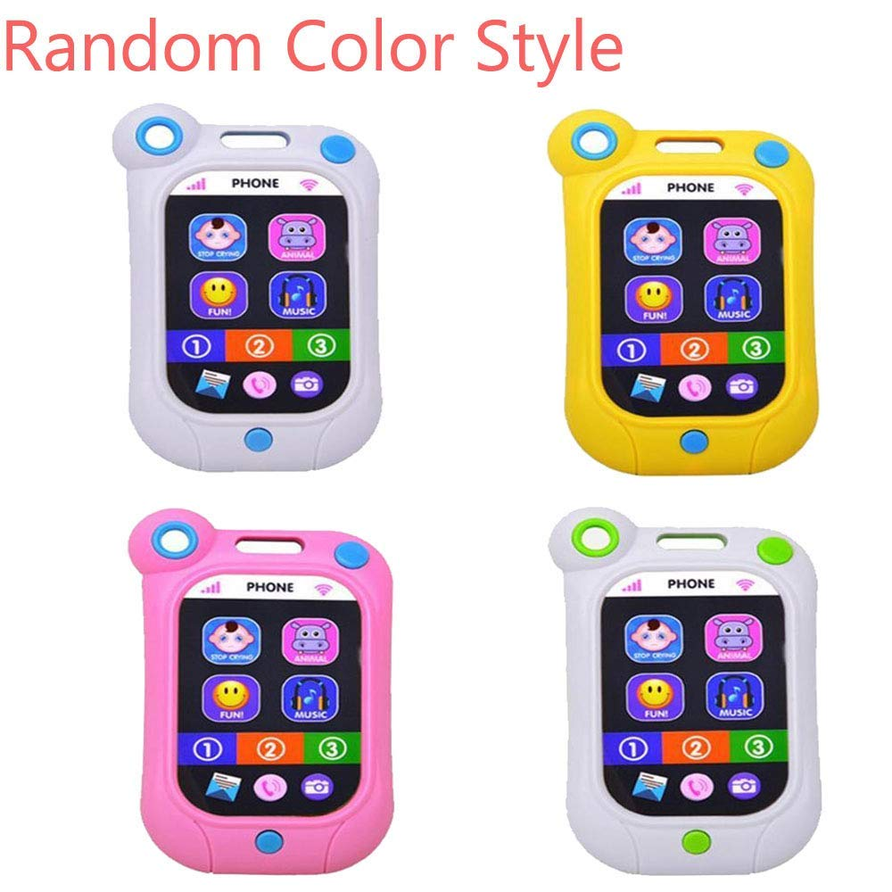 Home Children Multifunction Musical Smart Phone Toy Educational Learning Toys Touch Screen Double Display Best Gifts For Kids