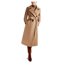 2019 New Female Pure Hand Cashmere wool Overcoat coat in Autumn and Winter