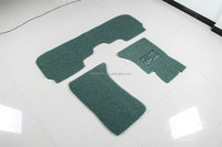 waterproof eco-friendly easy to clean PVC coil car floor mats double layered