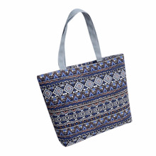 Travel Tote Bag 100% Cotton Canvas Handmade 16-inch Laptop Book Bag