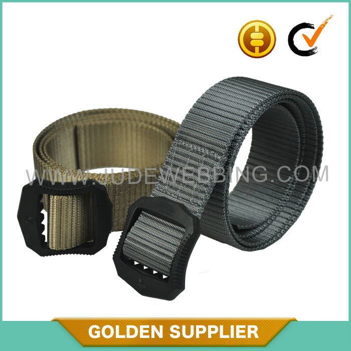 customized plastic buckle military belt with any logo