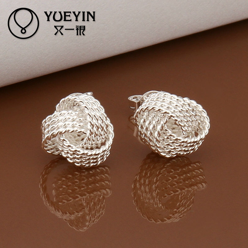 hot Cheap Wholesale fashion elegant Mesh ball stud boys earrings