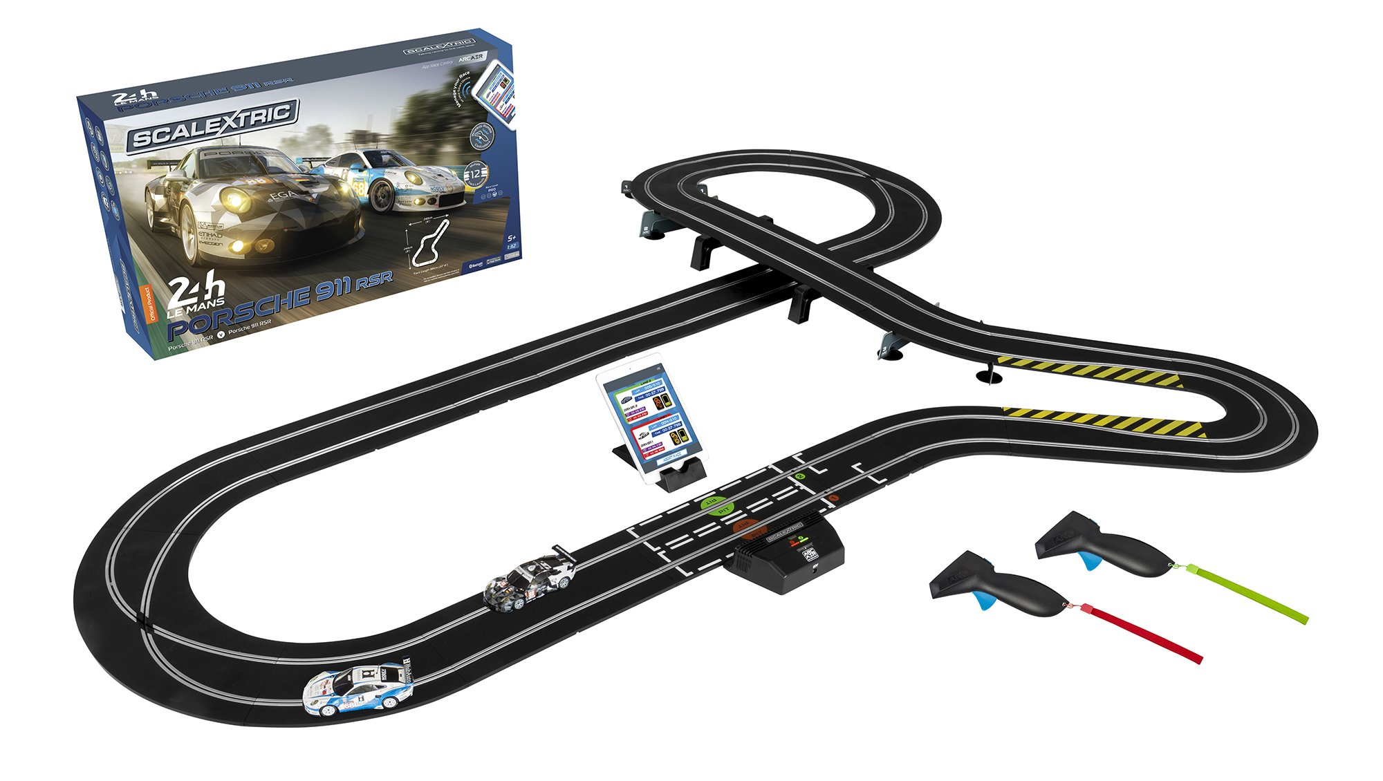 Cheap Race Slot Find Deals On Line At Alibabacom Ho Car Racing Track Power Wiring Get Quotations Scalextric Arc Air 24hr Le Mans Porsche 911 132 Playset