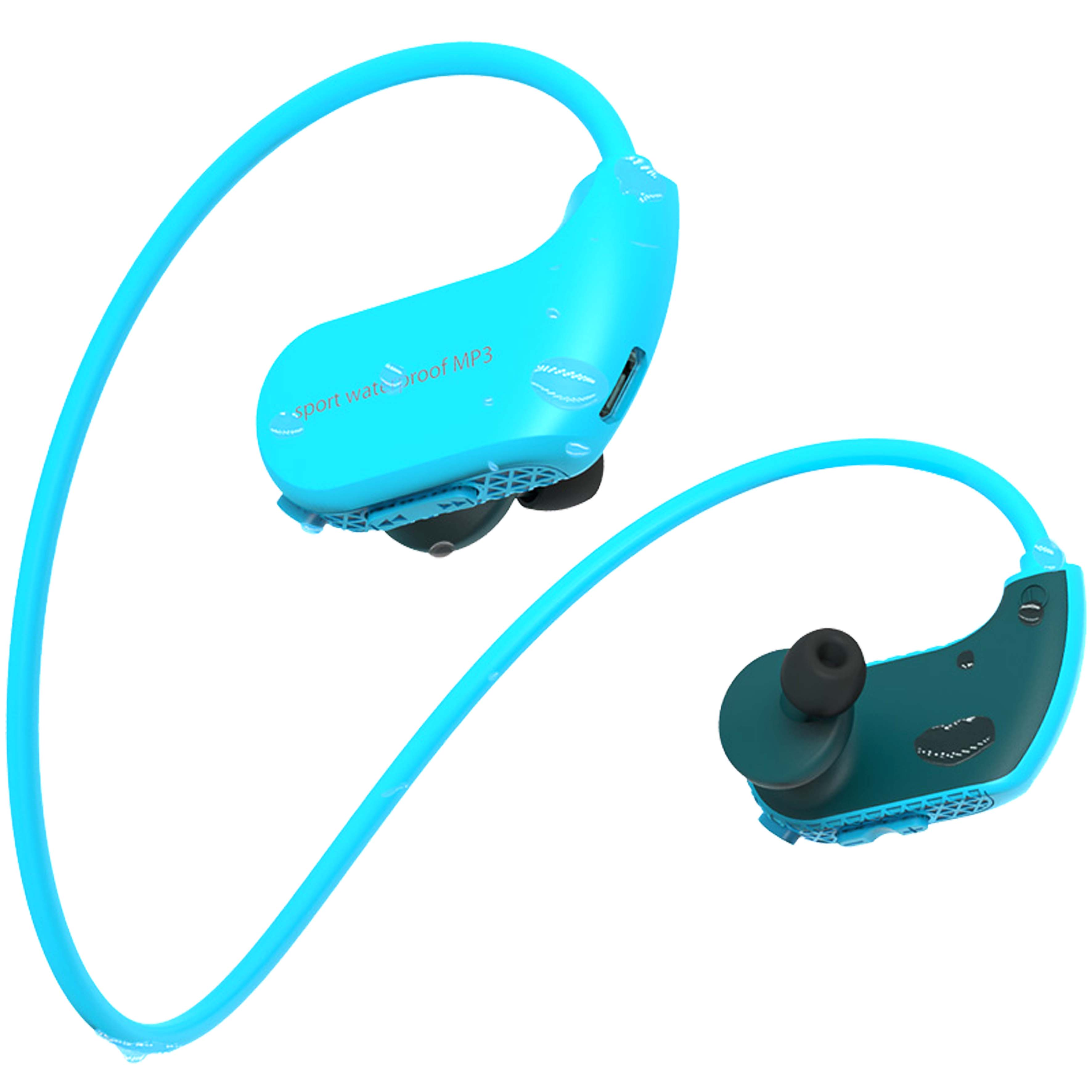 IPX-8 sports waterproof headphones MP3 <strong>player</strong> for swimming / diving / surfing / rowing / running / skiing / riding