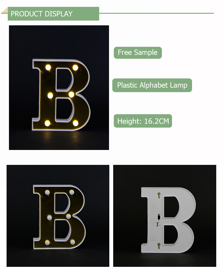 B battery operated led plastic table lights high quality festival decoration led light
