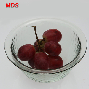Casual dinnerware decorative big glass punch bowl for food