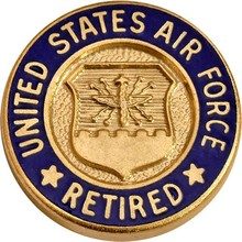 Classic Design Zinc Alloy air force lapel pin