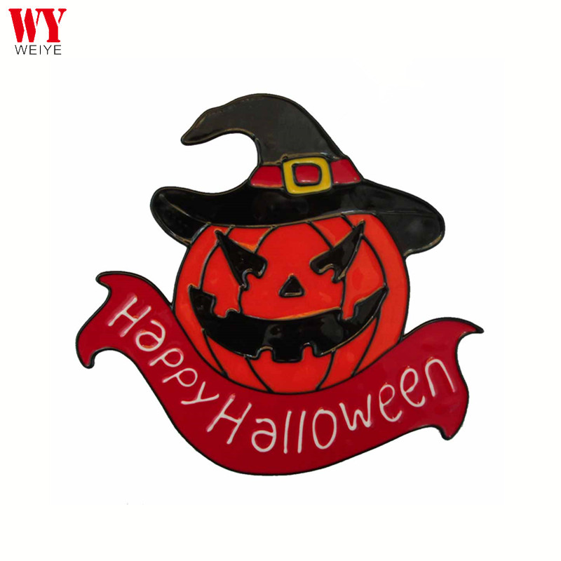 Nieuwe ontwerp Halloween window decor pompoen custom PVC raam sticker