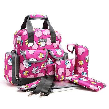 Portable Pink Girl Hello Kitty Diaper Bag Oxford - Buy Hello Kitty ... 5cf803de1bbe2