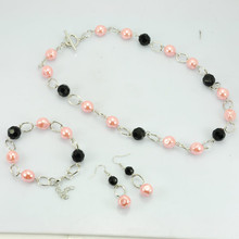 Fancy product baroque pearl jewelry set for girl