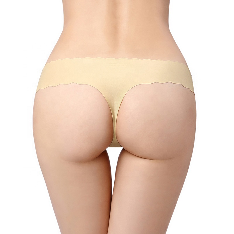 7d65be94e Popular novo design sem costura mulheres calcinha fio dental calcinhas de  corte a laser quente