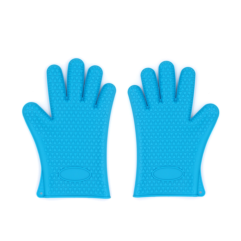 Waterproof Heated Resistant Non-Stick Kitchen Funny BBQ Silicone Oven Gloves Mitts Guantes aislantes Grilling Cooking Gloves фото