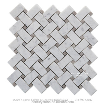 carrara white basket weave honed nonslip bathroom floor marble mosaic tile