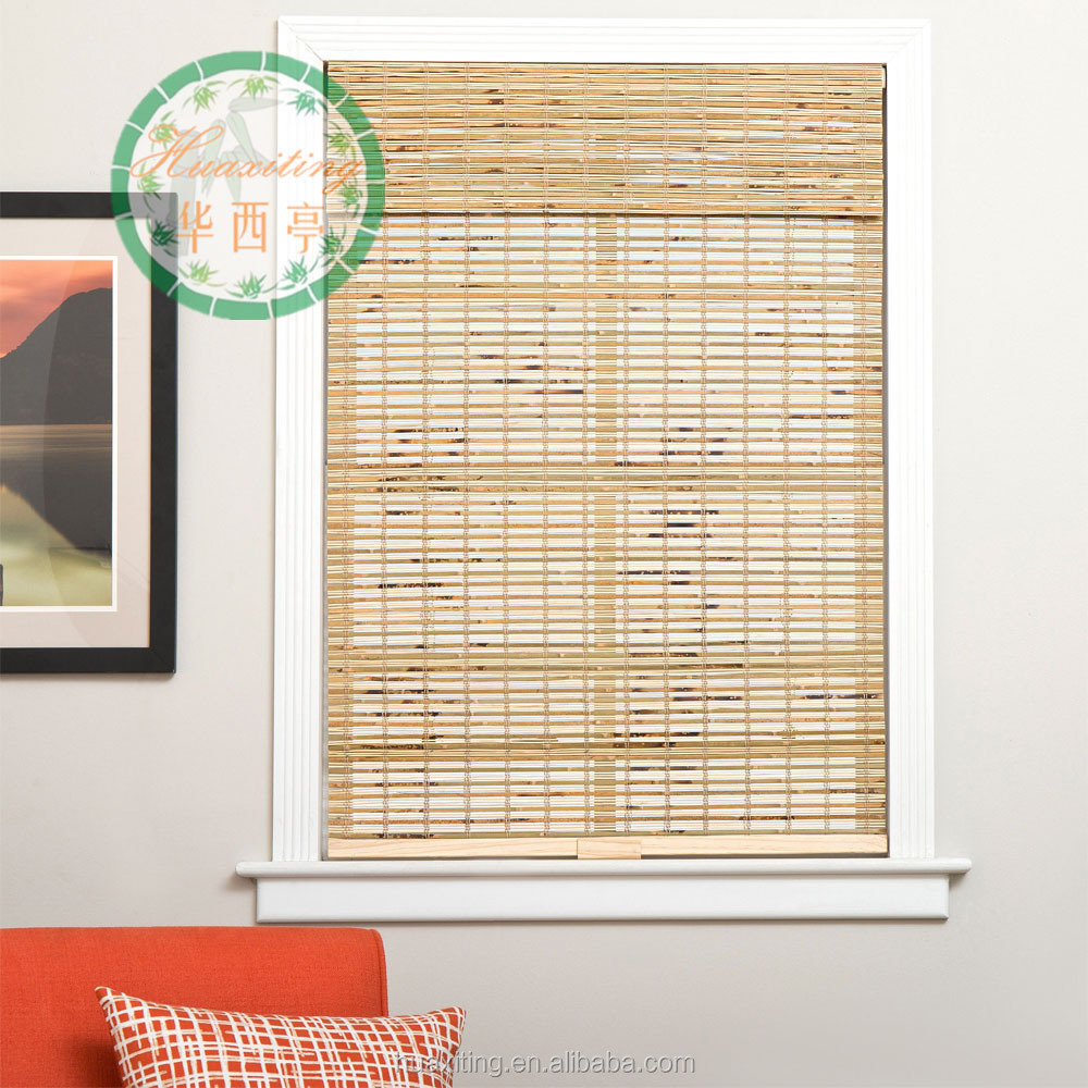 petite colored tigered bamboo rolling vertical blinds
