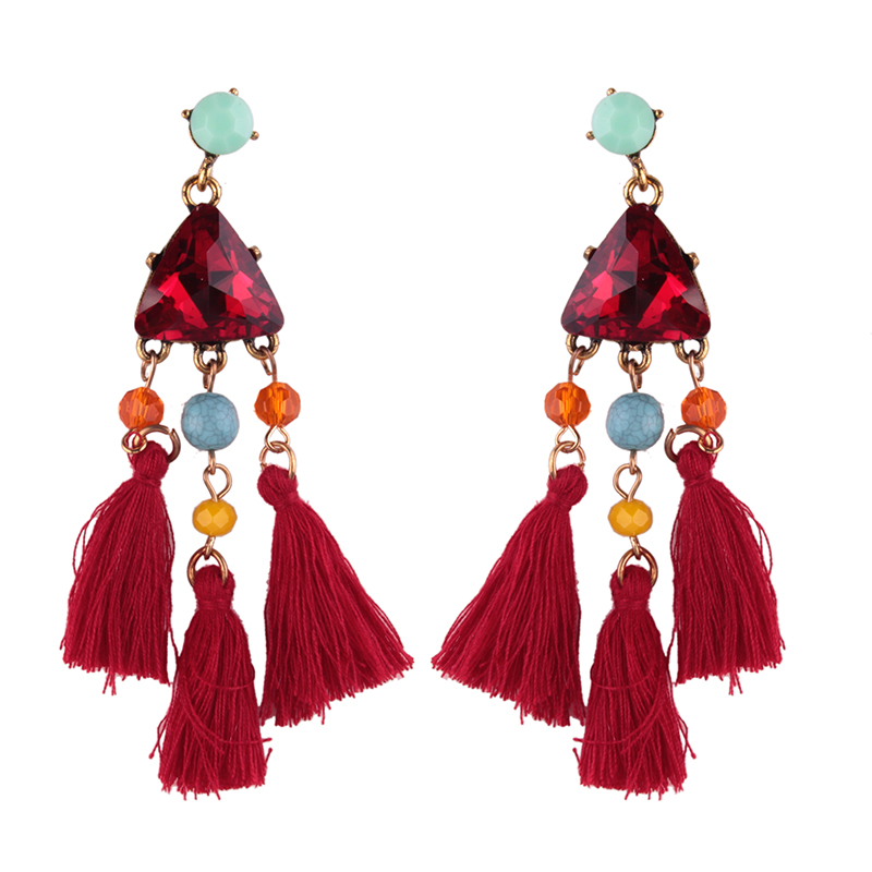 10576 Dvacaman New Arrival Jewelry Tassel Drop Earring Statement Dangle Earrings Gift Women's Wholesale Promotion
