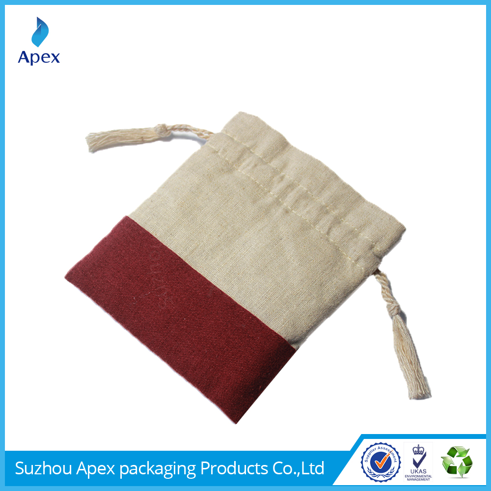Cheap promotion color cotton cloth bag for accessories