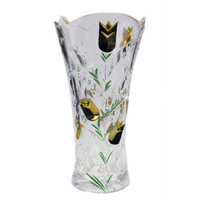 100 % purity gold decorative crystal glass tall vases with flowers