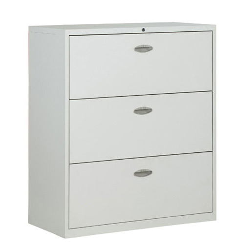 Commercial Office Furniture 3 Drawer Lateral Steel Filing Godrej File  Cabinet A4 Folders