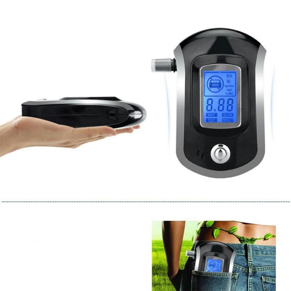Новый горячая распродажа мода профессиональный мини полиция цифровой жк-тестер спирта дыхание алкотестер AT6000 бесплатная доставка