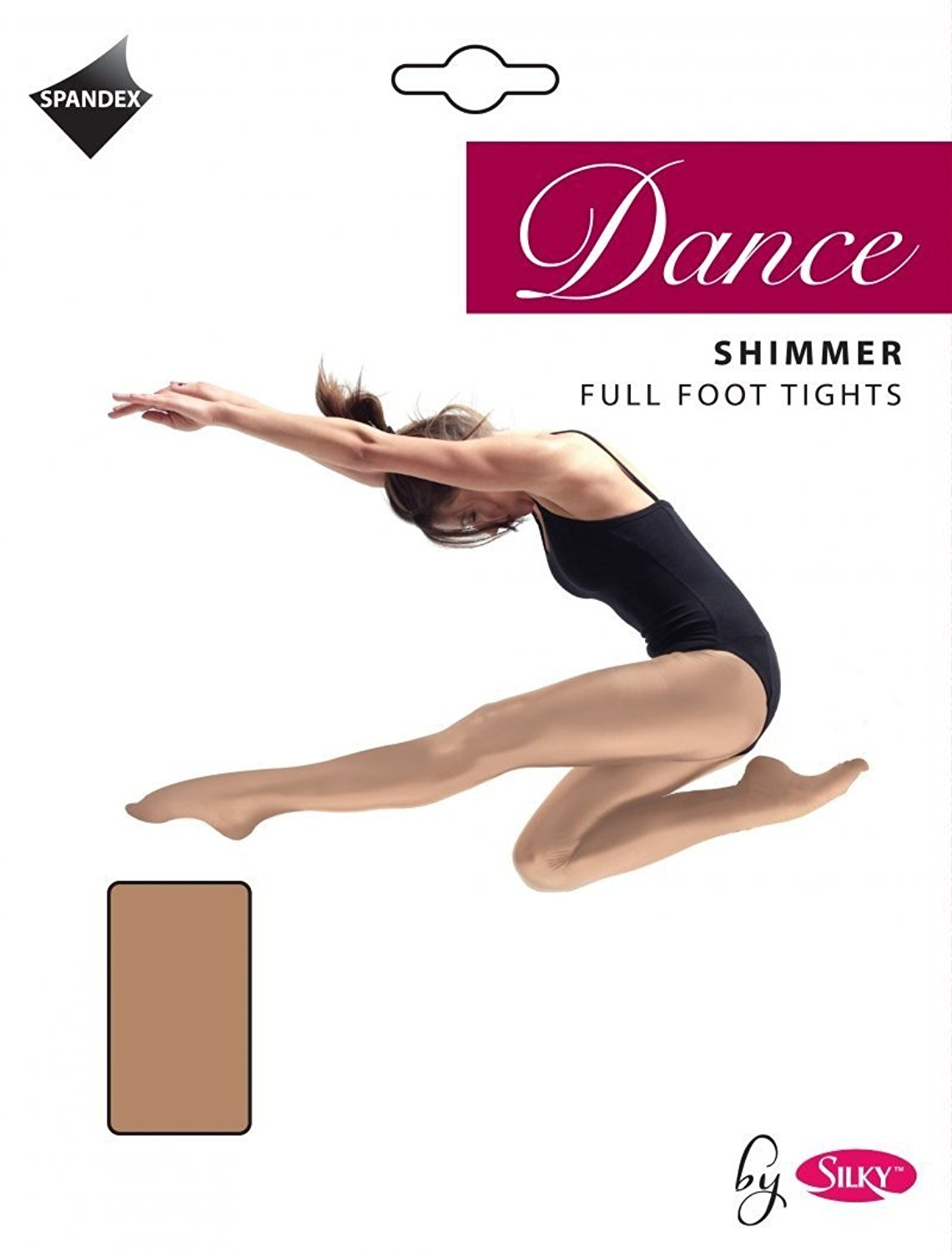 9e177eb6912fc Get Quotations · Silky Women's 1 Pair Of Dance Tights - Shimmer Full Foot  Toast