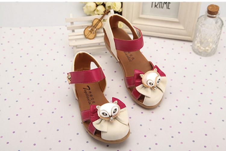 Модель из кожа сандалии с обувь украшение принцесса обувь сухожилия at в конце дети в обувь 086