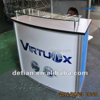 Exhibition Stand Reception : Trade show display exhibition stand arc shaped table reception desk