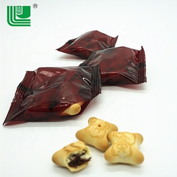 Semi-Hard cookies breakfast snack chocolate filled bear shape biscuits
